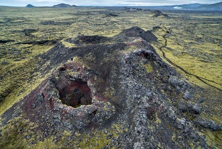 Eldvörp á Reykjanesi eru í mikilli hættu, mynd: Ellert Grétarsson, landvernd.is