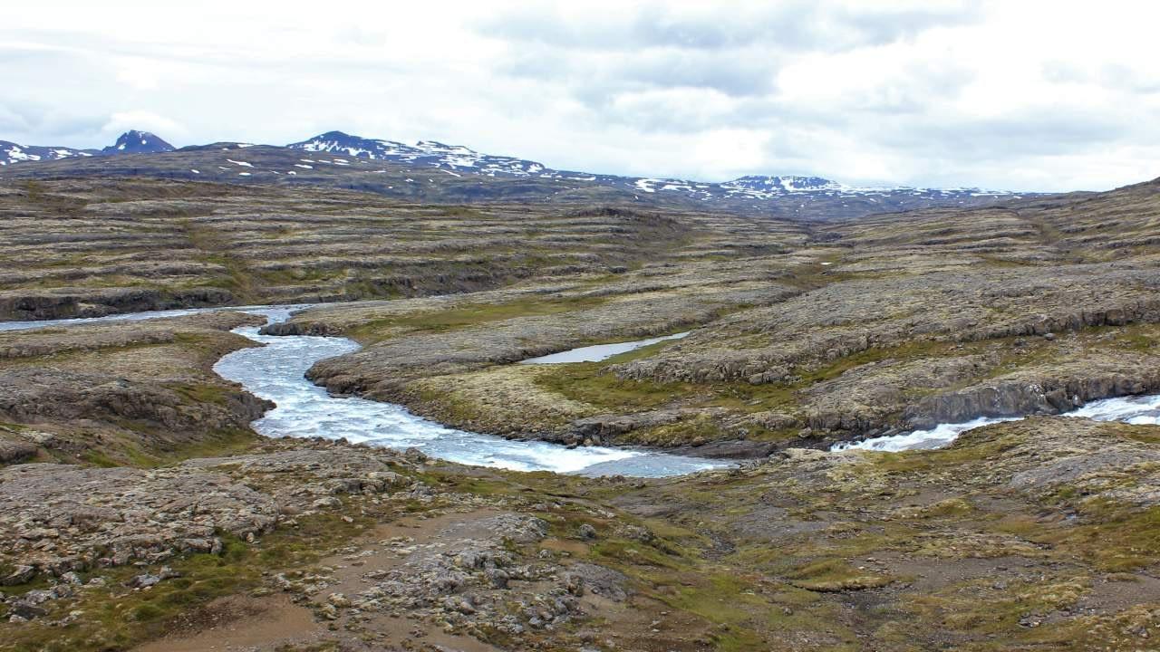 Á myndinni má sjá ármót Rjúkanda og Hvalár á Drangajökulsvíðernum. Þarna hyggst Vesturverk byggja vinnubúðir sínar, landvernd.is