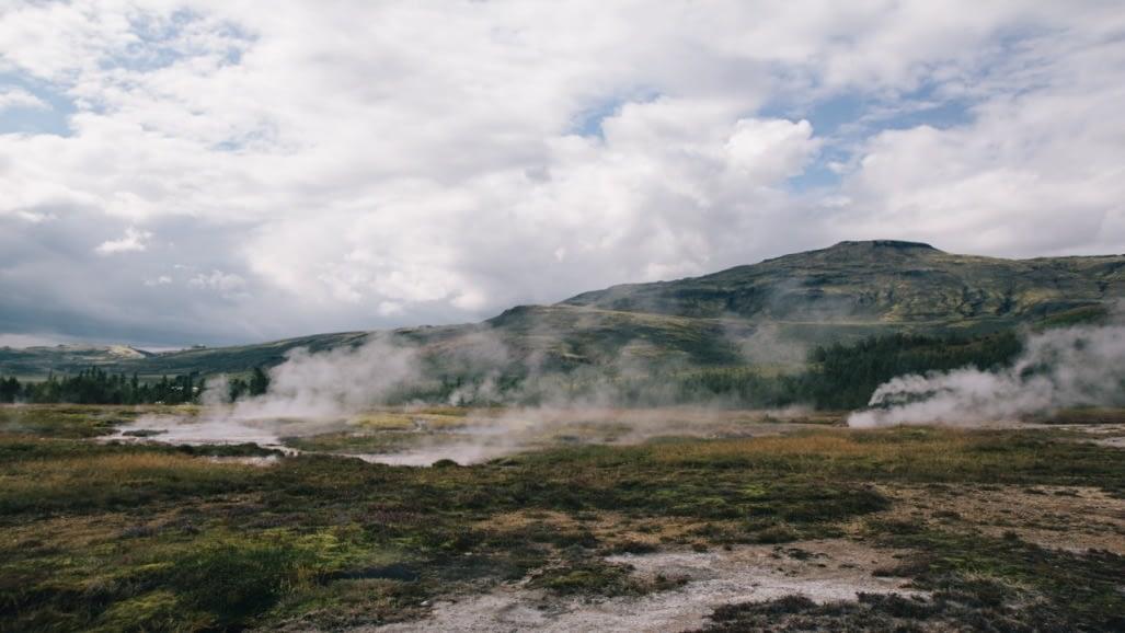 Geysir er hver í Haukadal og einn sá frægasti sinnar tegundar í heiminum.