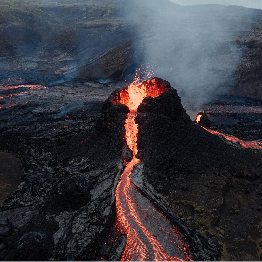 Gos Geldingadalir, Reykjanes, 2021. landvernd.is