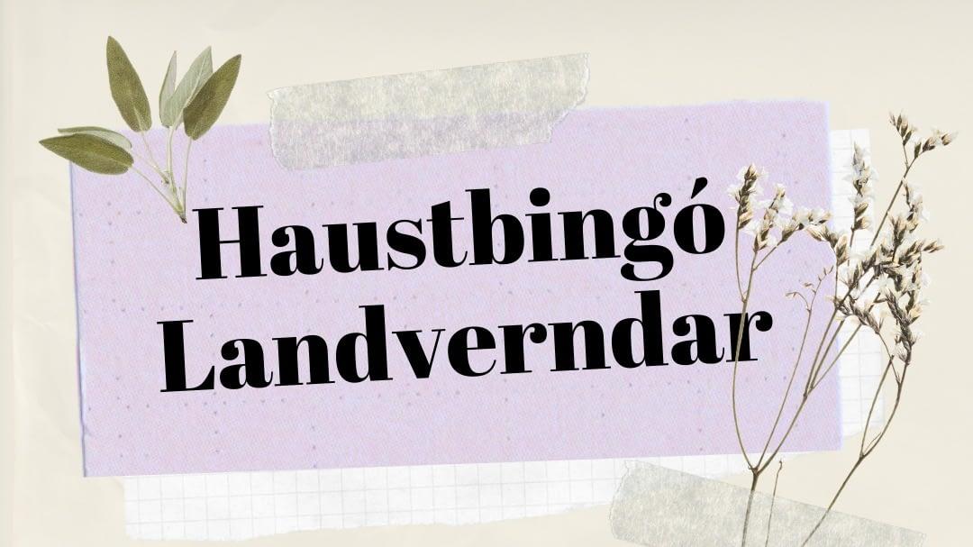 Haustbingó Landverndar samanstendur af fjölbreyttum þrautum sem hver og einn leysir með sjálfum sér, landvernd.is