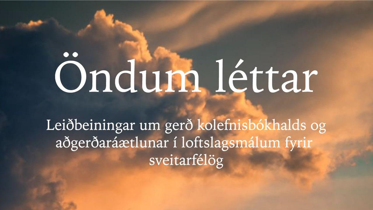 Leiðbeiningar um gerð kolefnisbókhalds og aðgerðaráætlunar í loftslagsmálum fyrir sveitarfélög