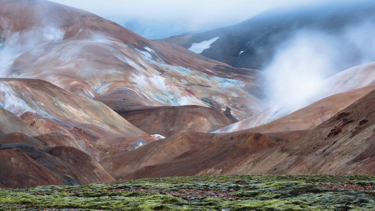 Kerlingarfjöll eru einstakt háhitasvæði á hálendi Íslands.