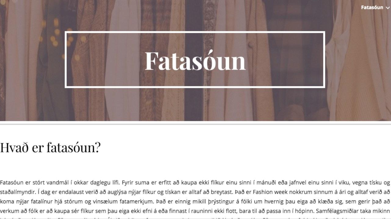 fatasóun, vefsíða, landvernd.is