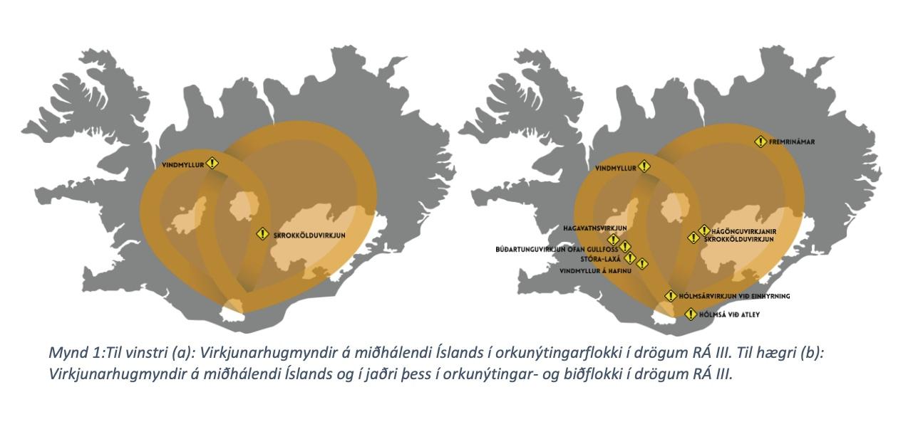 Virkjunarhugmyndir á hálendi Íslands, landvernd.is
