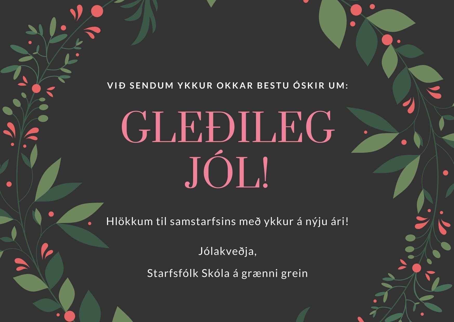 Hátíðarkveðja Skóla á grænni grein, landvernd.is