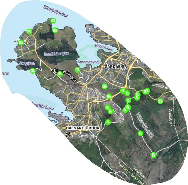 Gönguleiðir og útivistarsvæði í Garðabæ, landvernd.is