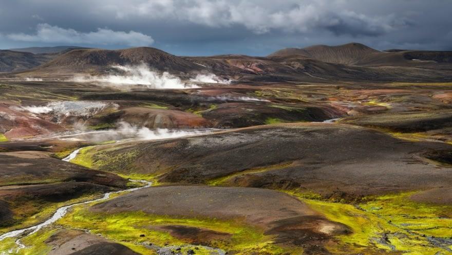 Austur-Reykjadalir eru hverasvæði innan Torfajökulsöskjunnar.