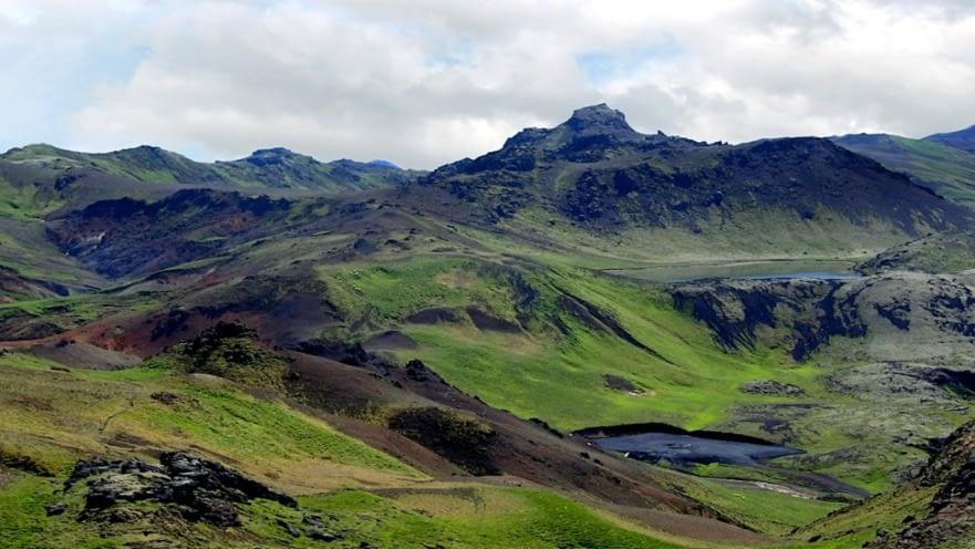 Trölladyngja er á hálendi Reykjanesskaga