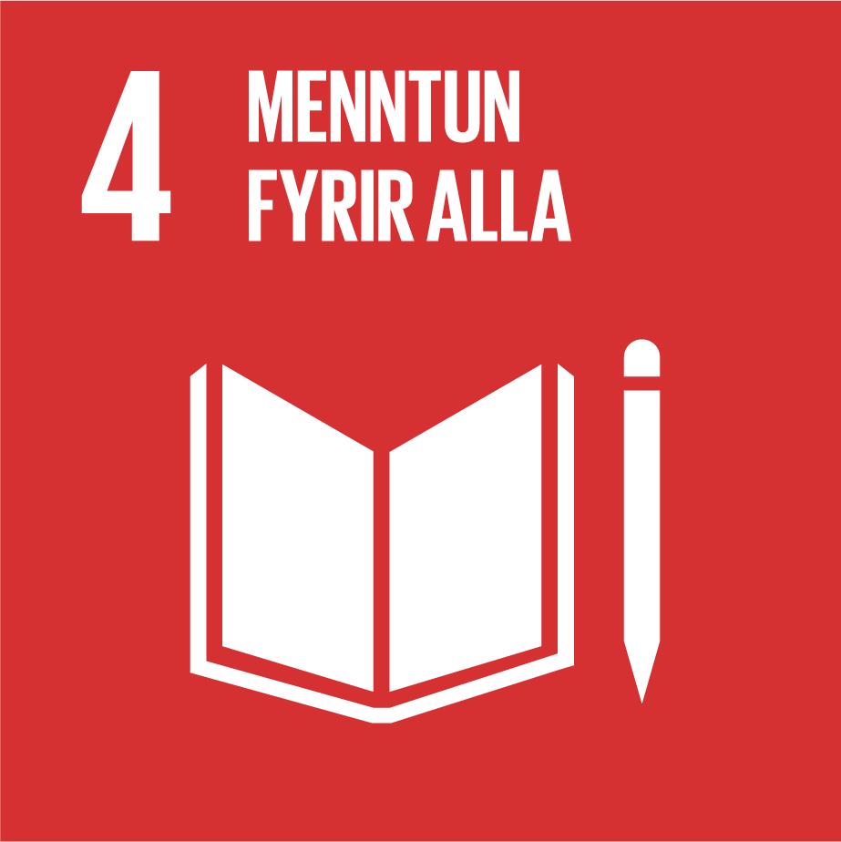 Heimsmarkmið 4, menntun fyrir alla kveður á um að allir skulu njóta sjálfbærnimenntunar, landvernd.is