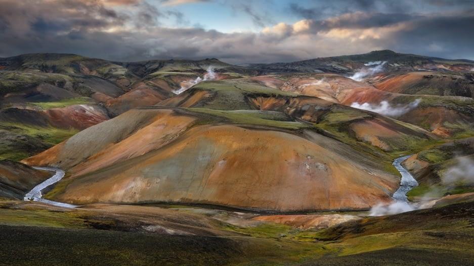 Vestur-Reykjadalir eru á Torfajökulssvæðinu